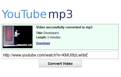 Go to YouTube-MP3.org and paste the link then click convert video and download