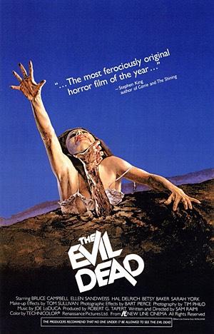2.) the evil dead- very corny