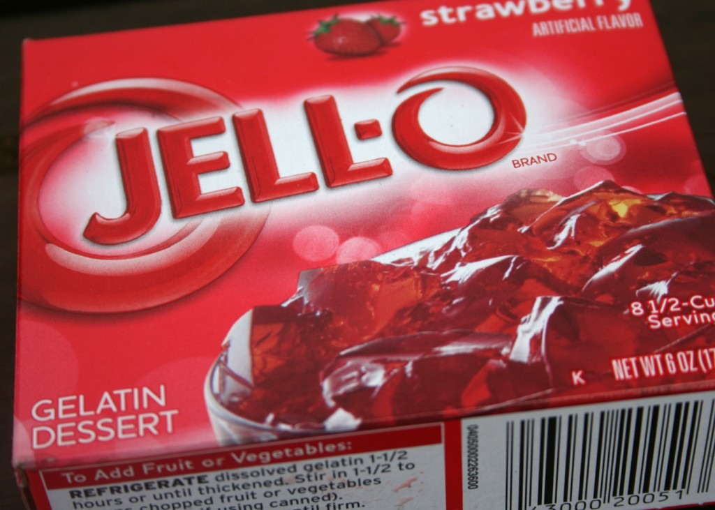 What you need is just a regular box of jello, and whatever flavor sounds good to you, also depends on the alcohol flavor you buy. Like raspberry jello = raspberry vodka.