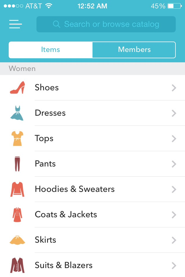 Vinted has a lot of different shopping categories
