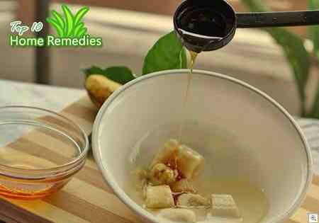 Mix in two tablespoons of honey.