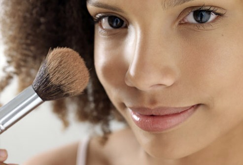 Do Use an Oil-Free Foundation  If you wear makeup, use an oil-free foundation. Also, no matter how tired you are, wash your makeup off before bed.