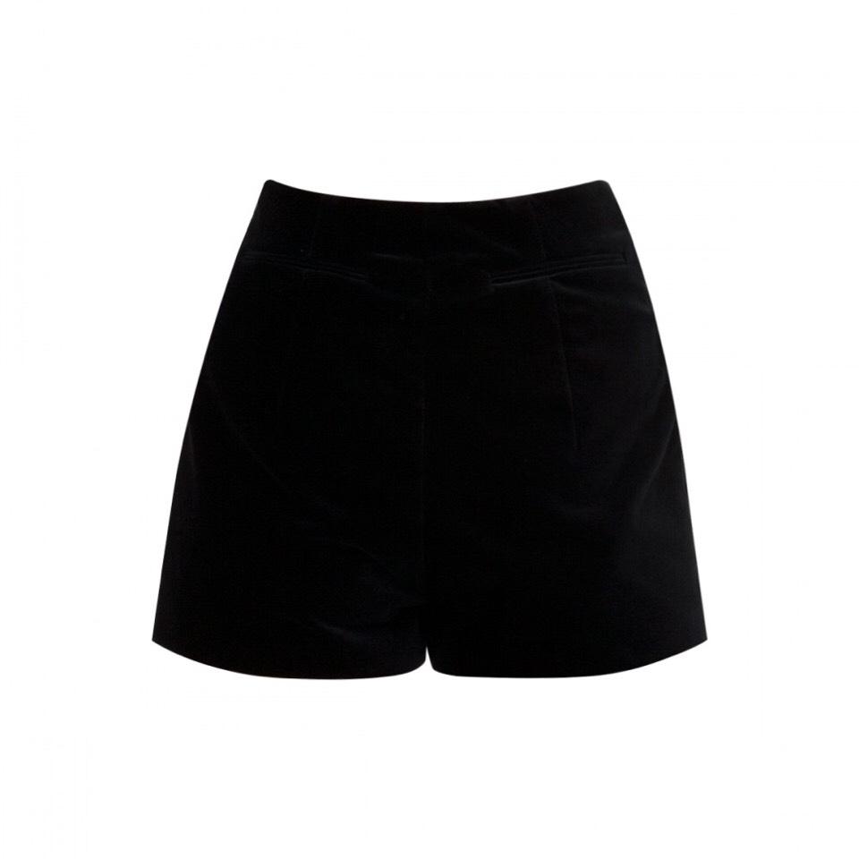 Some black shorts