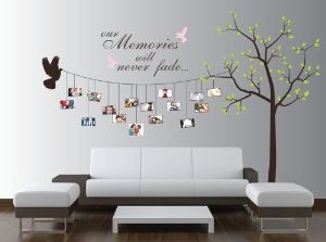 Step 3) use your imagination and make a Family decal tree. Fun with your Family and decor your home with love!!