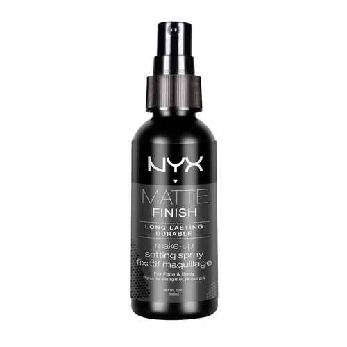 5. NYX MATTE SETTING SPRAY $8   Strong hold hairspray for the face that keeps you less shiny.  Compare to: De-Slick Oil-Control Makeup Setting Spray  Try: Holding away from the face for an even coating.