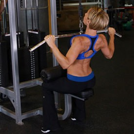 Wide-grip lat pull down