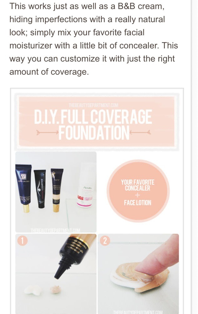 Why not just mix your favorite moisturizer and concealer to create Your perfect B&B cream! Why fix what's not broken? Or buy more product when you already have what you need ?????   Don't forget to like!
