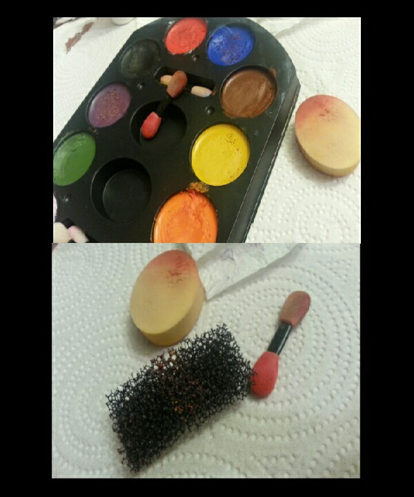 next u use this color pallete that comes with the brushes and use the colors RED, BROWN,PURPLE and orange is optional