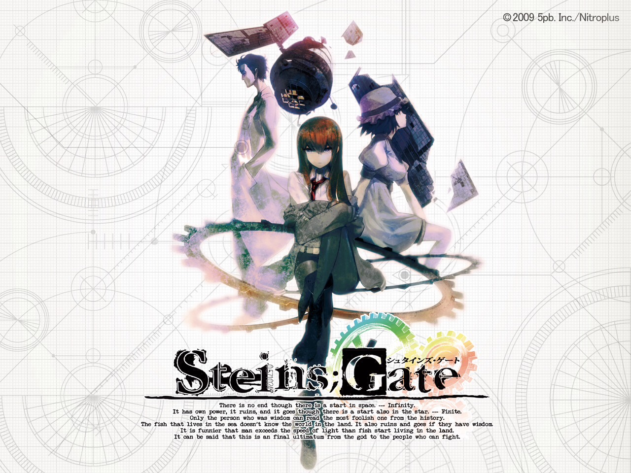 Steins; gate: a scientist learns how to alter history with grave consequences. This anime starts off so painfully boring, but eventually you'll find yourself unable to stop.