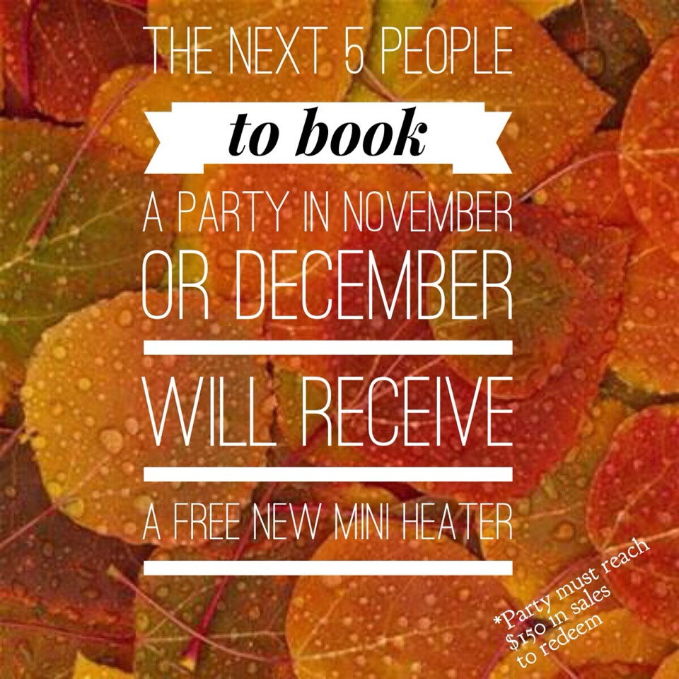 And if you host a online Facebook party you can earn free and half priced products!!!