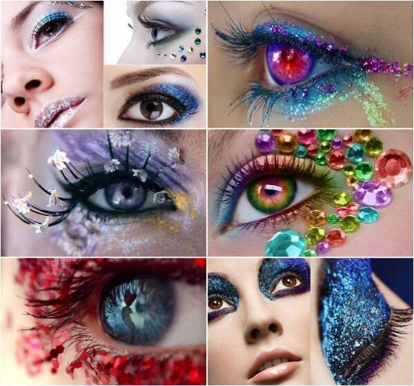 My ladies who love glitter, gemstones, and Bedazzlers our time is here.....arts and crafts make up is white hot for Summer 2016.