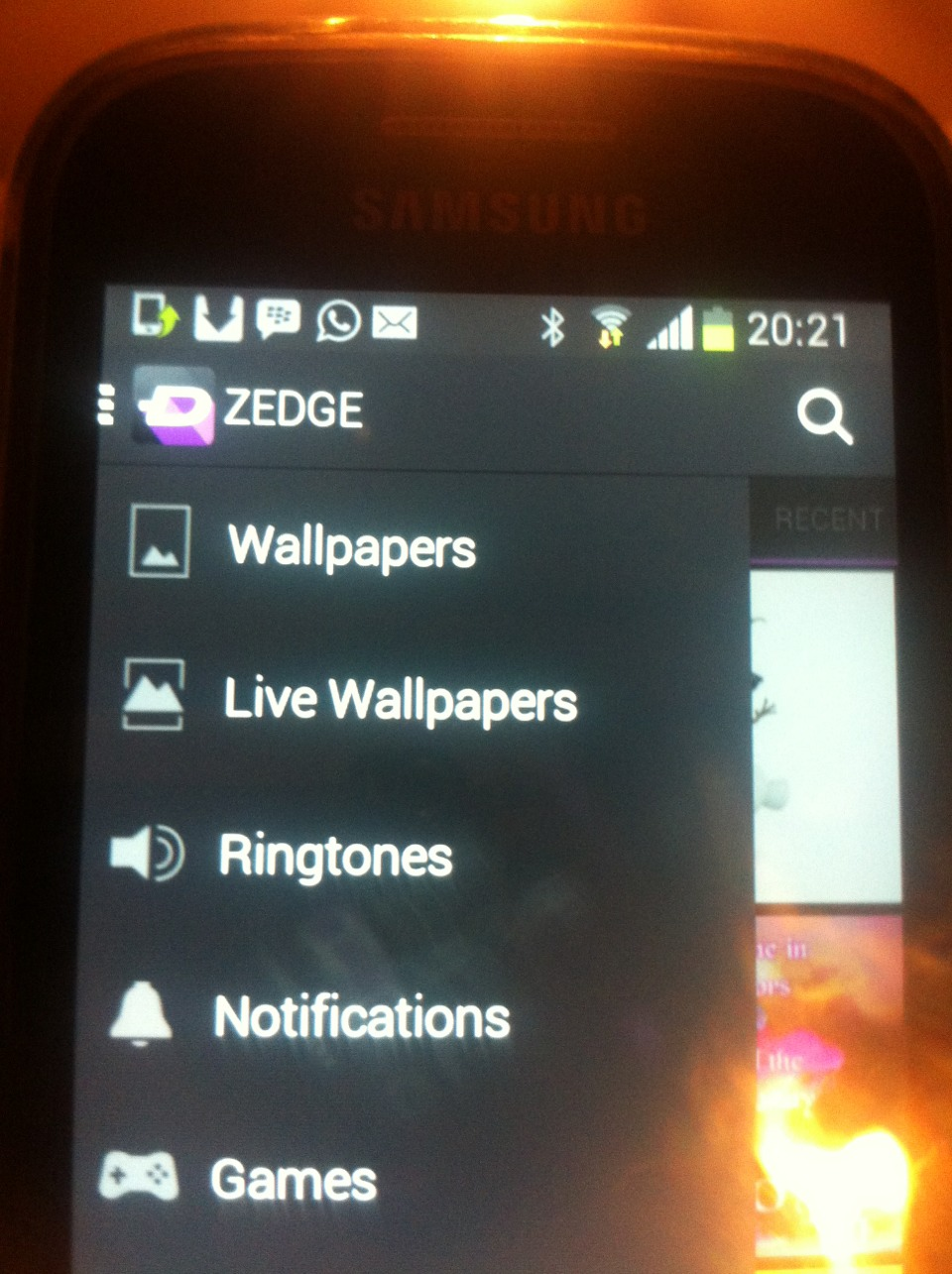 Download Zedge it has massive catalog of features that are displayed in pic
