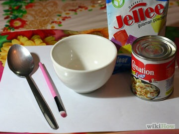 Supplies:  -Unflavoured gelatine -Milk -A spoon -A brush you won't use -Amicrowave-safe container