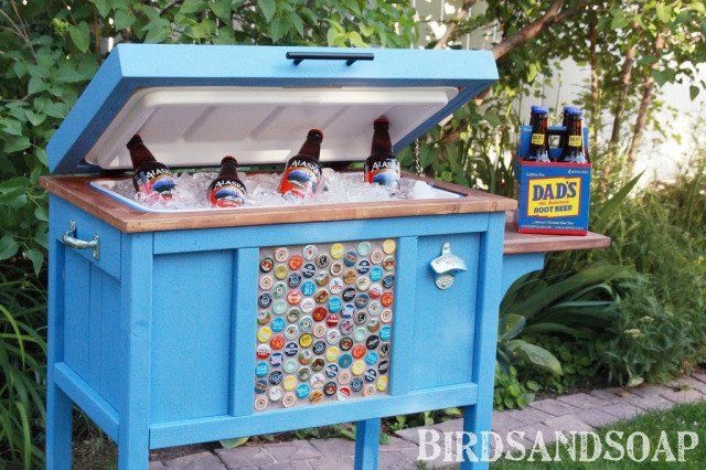 17. Outdoor cooler stand