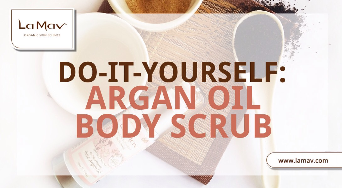 6 ARGAN OIL BODY SCRUB | NEEDED  * 1/2 cup coffee grinds (unused) * 1/3 cup pure Argan Oil (approximately 30ml) * 1/4 cup brown sugar * spoon (to mix the ingredients) * small cup or bowl *If you want the mixture to smell even more delightful, you can add some cinnamon.