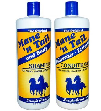 Use mane and tail shampoo & conditioner only use conditioner at the ends of you're hair. Use shampoo for the roots.