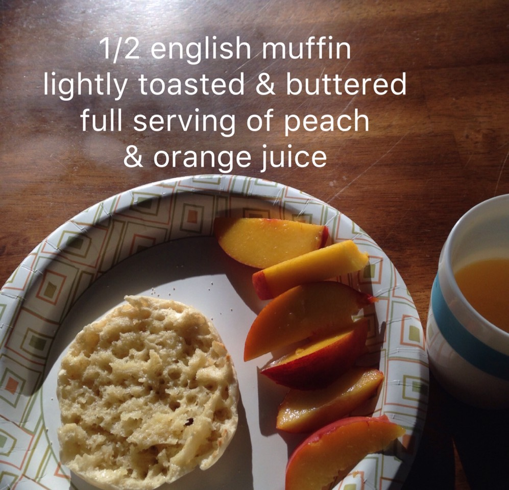 You can also do a whole wheat english muffin for optimum nutrition. Whole wheat toast mixed with fruit or juice high in vit C is a great combo because the whole wheat helps the body absorb the vit C.