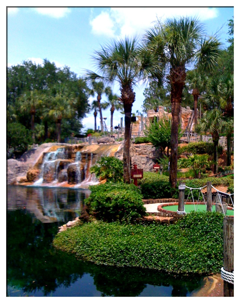 Believe it or not mini golf in Orlando is awesome, almost any place you go has awesome hills, turns, and decor it is so much fun for the whole family