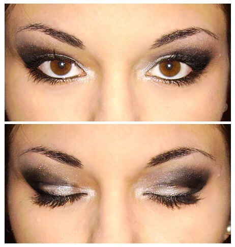 To create the perfect 'cat-eye' look with eyeshadow only, get a bit of sticky tape (yes sticky tape) and stick it under your eye going from just the end of your eye aiming towards the end of your eyebrow. Just make sure that the sticky tape is straight and without kinks.