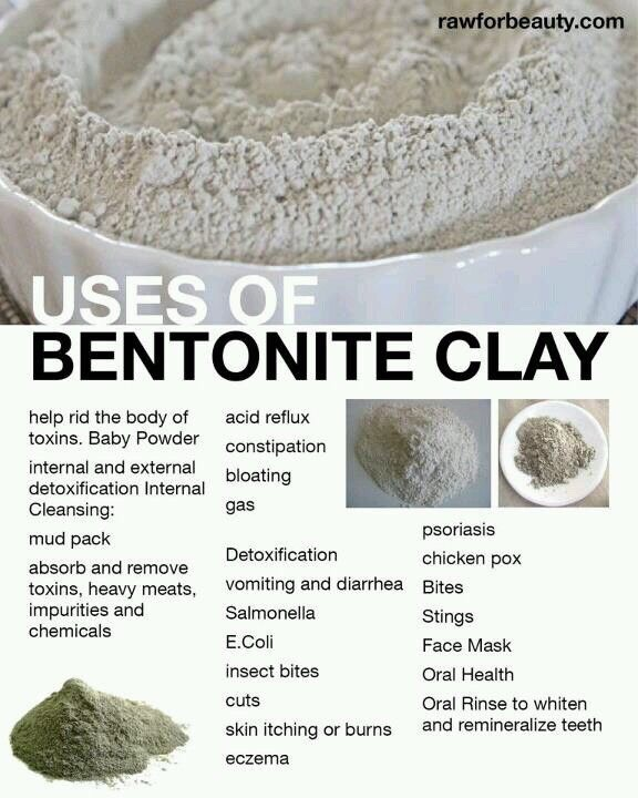 i am in love with the bentonite clay its a miracle clay a must for face and body ...