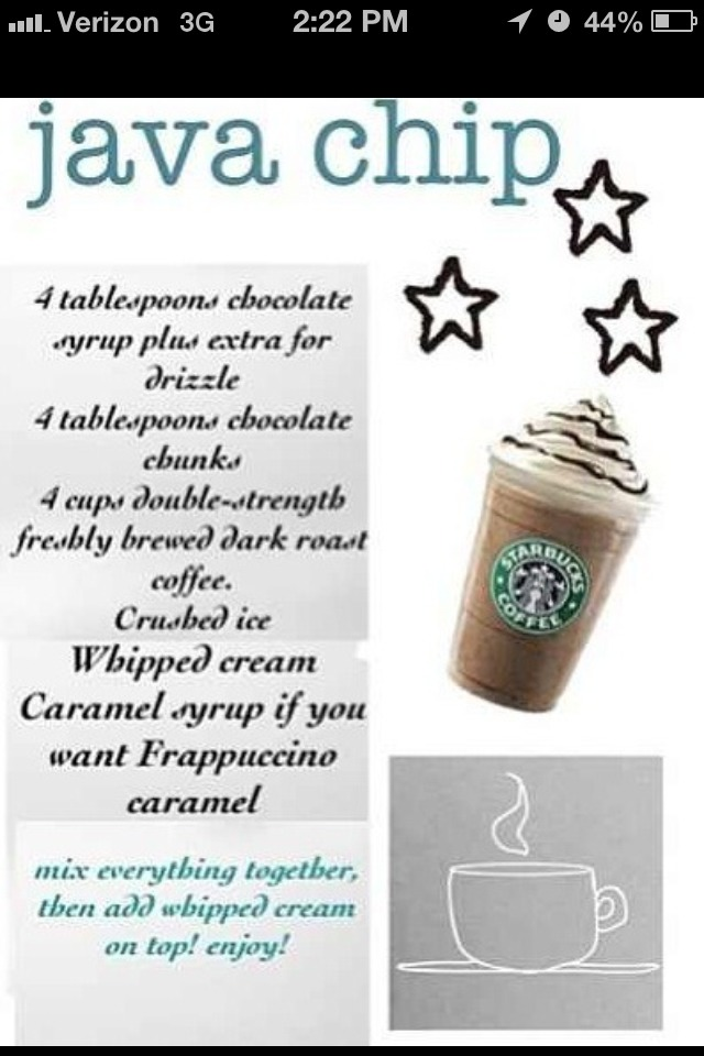 Starbucks Java Chip Yummy By Kayla Evans Musely