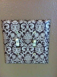 Mod Podge your light switches! So easy and such a cheap way to personalize your home! 👍❤️