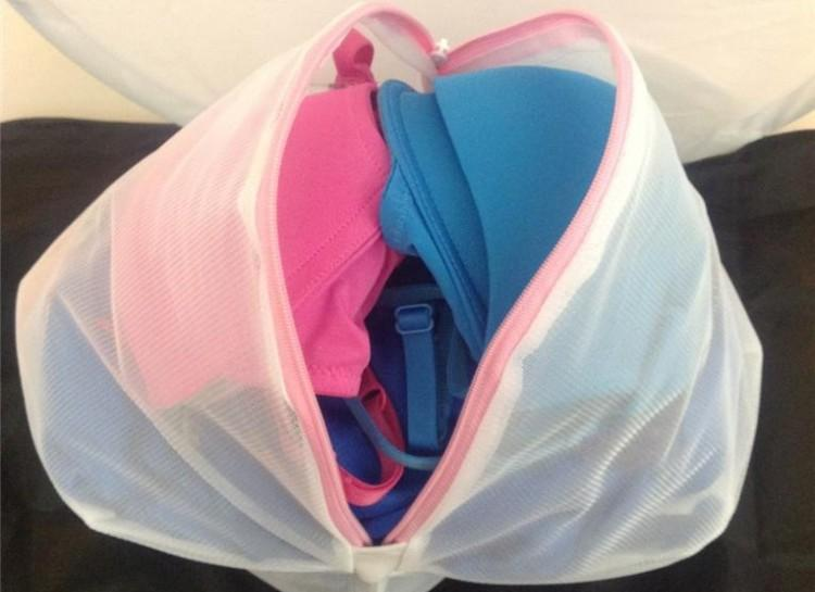 A mesh laundry bag will be your best friend for protecting delicate garments when you wash them. The bag will protect items, like lingerie, from getting caught or twisted around other clothes.