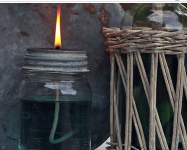 These mason jar oil lamps are functional, very inexpensive, fun to make, and sometimes just nice to kick back and stare at for a while.