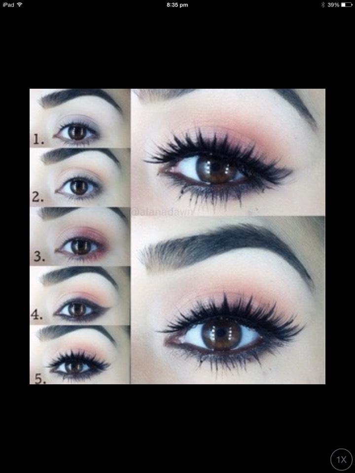 Eye makeup.        1