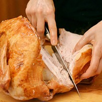 You destroy the turkey when it comes time to carve it.  Check youtube for visual institutions!