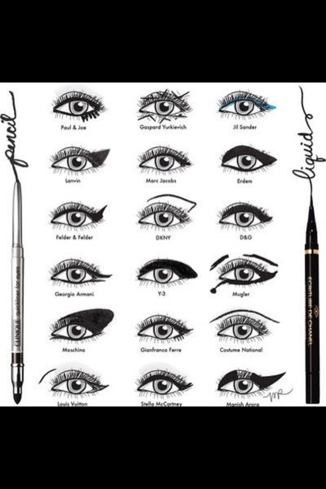 Here are 18 ways you can do your liquid eyeliner :)