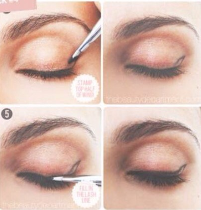 Dip an angled linerbrush into a gel liner pot and stamp the outline of your cat eye.