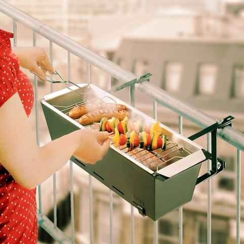 17. The Balcony BBQ, $98   You know who's house you'll be hanging out at this summer. Get it at firebox.com