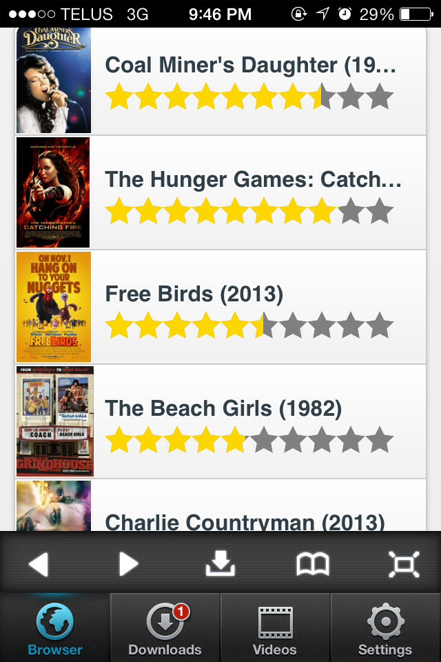Step 4:  Scroll through the list of movies. Once you've found one you'd like to download, click on it.