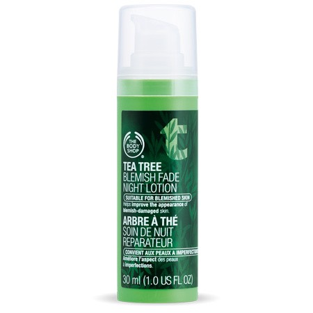 This is also in the tea tree range in the body shop, so you can cure your acne overnight .