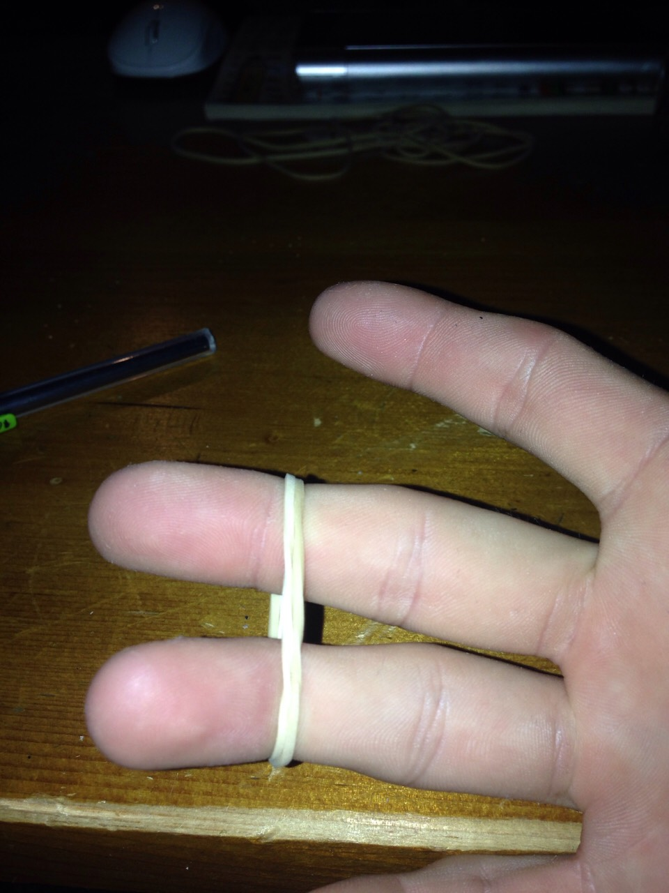 Double up the rubber band to make it extra tight