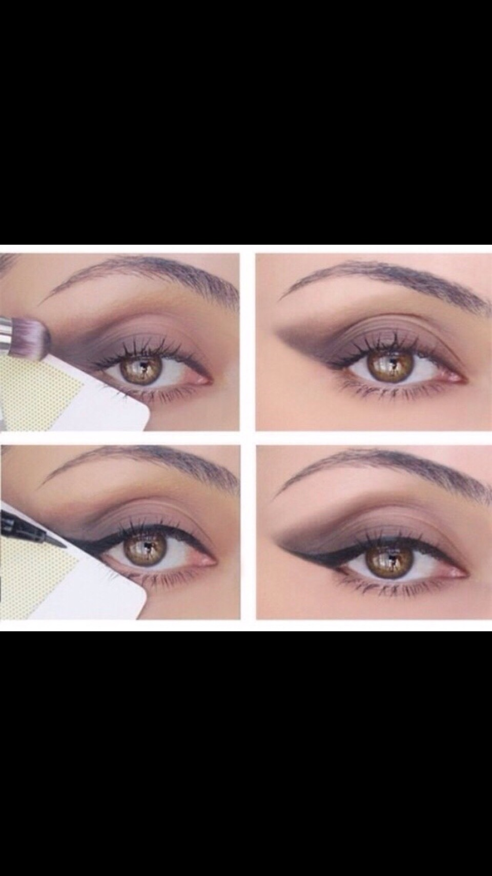 Cant seem to get that perfect wing? Use a credit card to create the perfect line😌