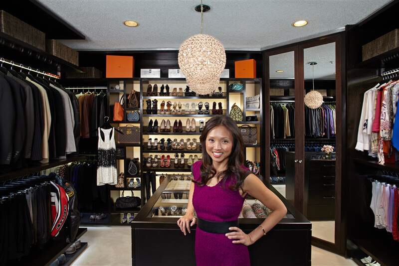 If you've ever spent hours on a celebrity's Instagram feed, only to find yourself staring longingly at a divinely organized and spacious closet, this one's for you. This is Lisa Adams of LA Closet Design as she poses in on of her masterpieces.