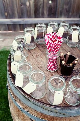 Encourage guests to label and use the same glasses throughout the party.