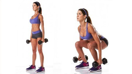 Start off with 25 squats