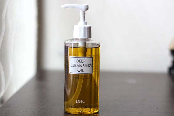 Start with a cleansing oil to fully remove any makeup.