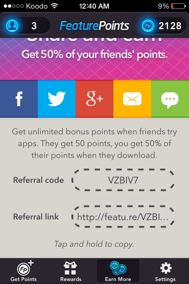 This is the code you use to get 50 bonus points! Don't forget to use it!
