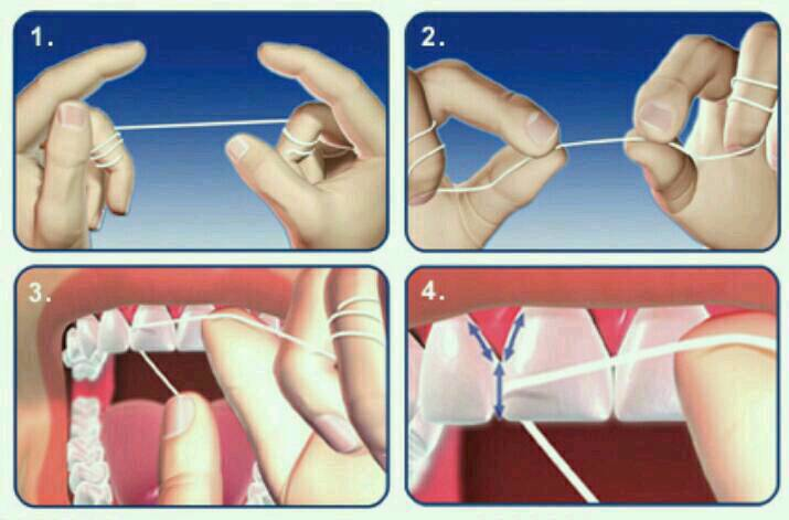 I always start with flossing before brushing, some people prefer to brush before flossing this is totally up to you.  I find flossing first gives an extra minty clean brushing experience 👍