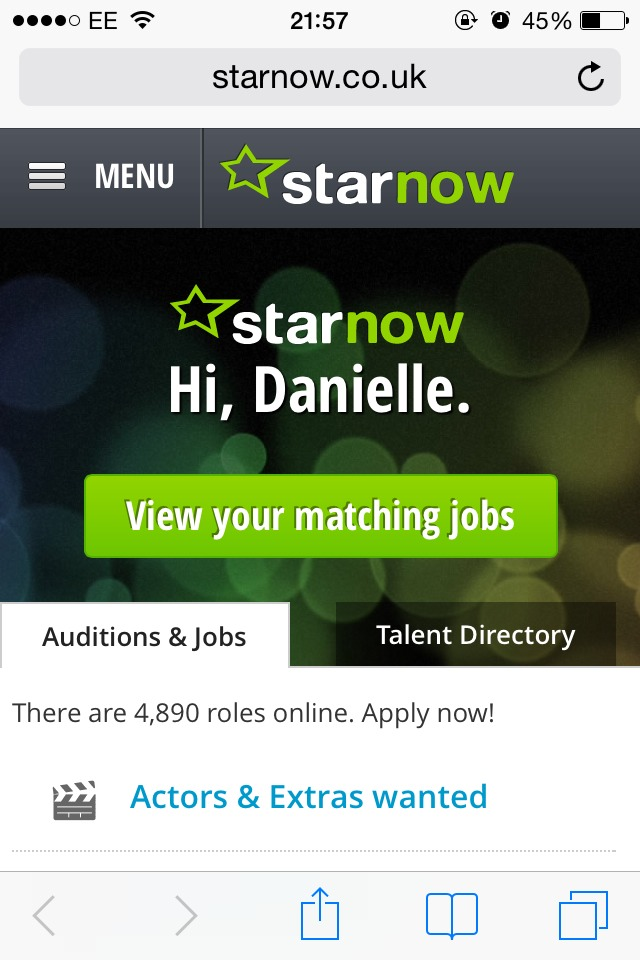 There are loads of sites out there such as StarNow (my personal favourite) and Casting Call Pro, which all let you search through jobs and apply. A lot of these jobs are unpaid, but they'll provide you with the footage at the end if it. Best of all, they don't necessarily need a showreel to apply!