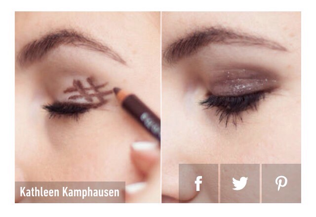 12. Draw a hashtag on your eyelid and blend it in for the perfect smokey eye.