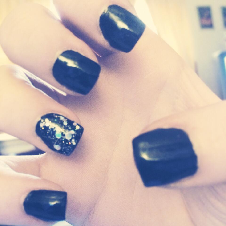 Don't use regular nail polish on fake nails use acetone free nail polish!