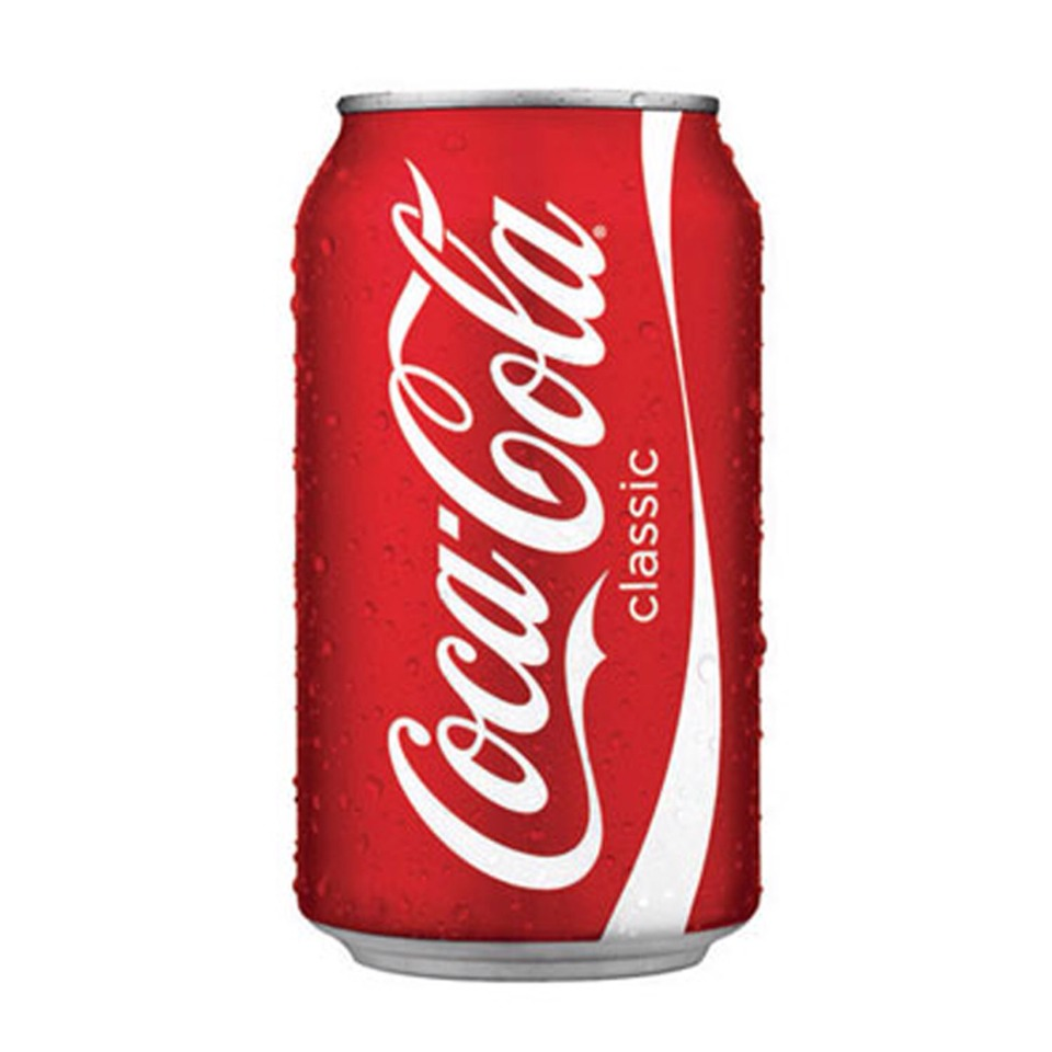 In a small can of Coca Cola classic (like this one) there are TEN teaspoons of sugar!