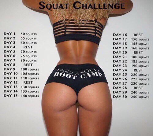 Squat Challenge!! Get beach booty ready!🍑🍑