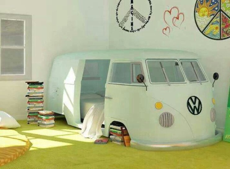 A cute hippy way to turn your living space into a groovy hideout.