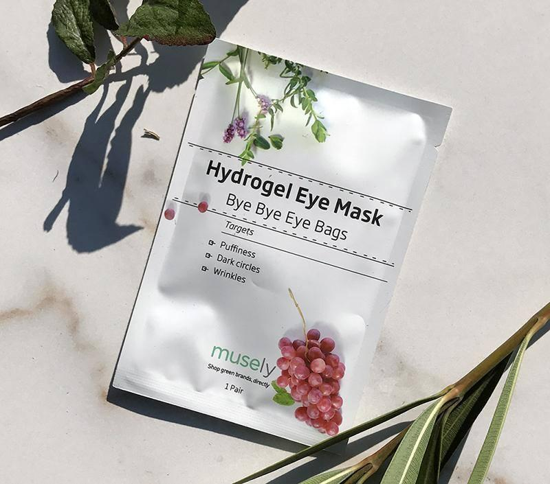 Musely's Bye Bye Eye Bags hydrogel eye mask Get brighter and de-puffed eyes by tomorrow morning with Musely's Bye Bye Eye Bags hydrogel eye masks. The unique hydrogel material uses nanotechnology to hold more water than any other mask. The result? A 10% boost in skin hydration, in just one night. The mask also delivers a potent blend of botanical ingredients, including grape seed oil, which has been proven in clinical trials to reduce wrinkles.